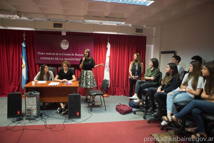 """Simulacro del Programa """"La Justicia y la Escuela"""""""